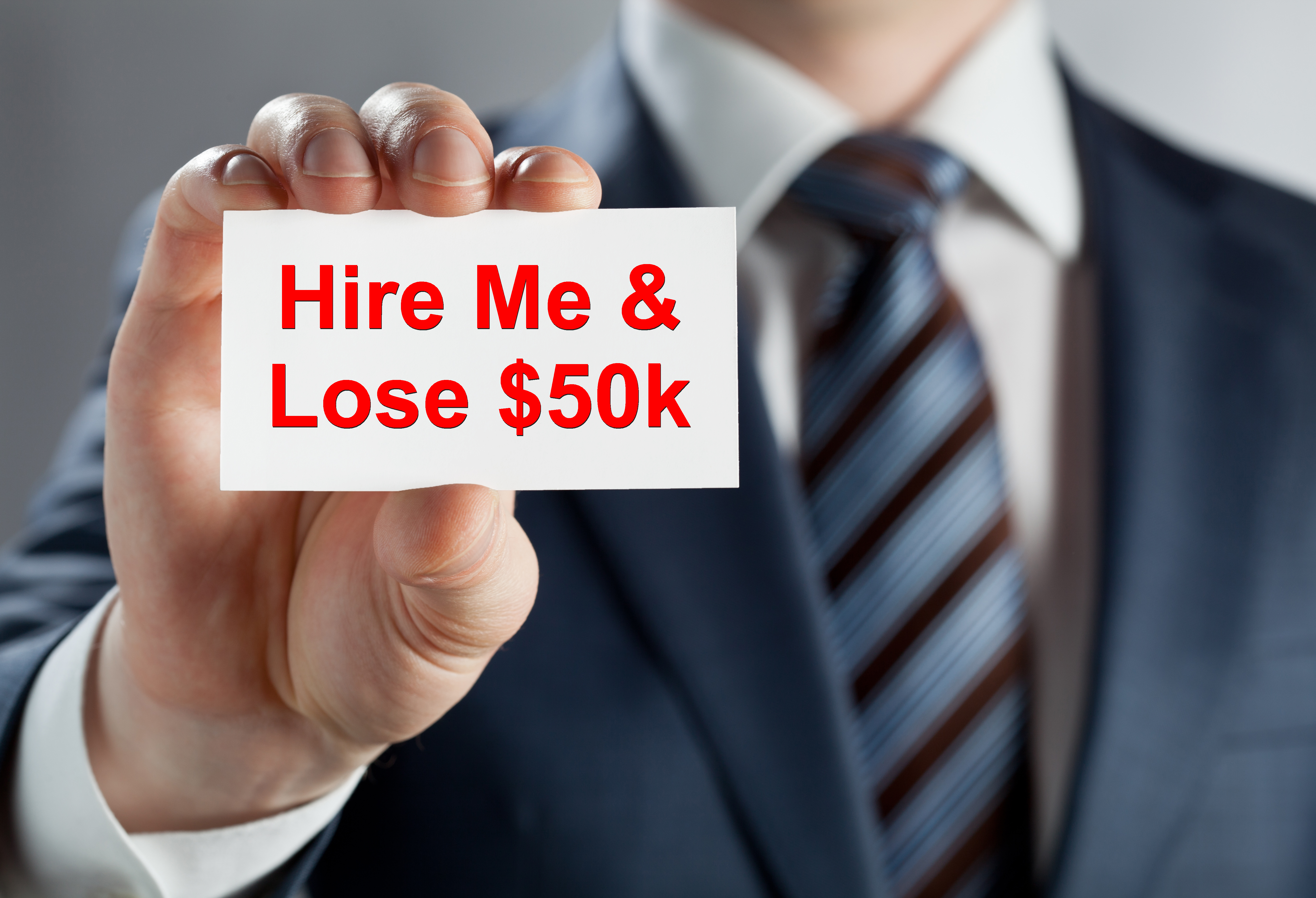 career coach executive coach presentations pitches training text added man holding business card poor performer shutterstock 124567405