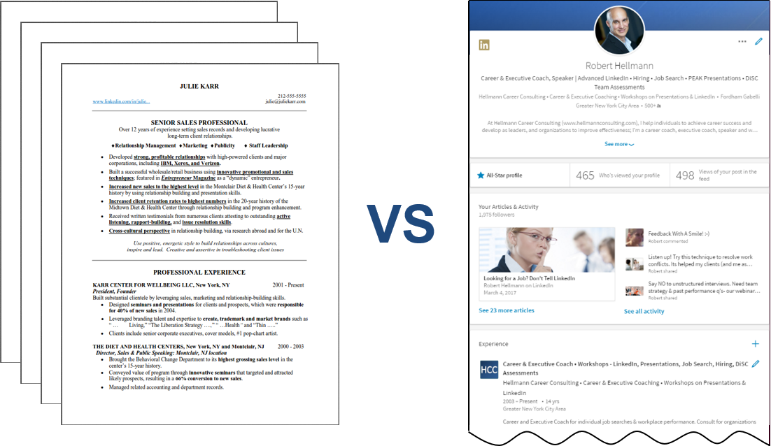 resumes vs  linkedin profiles  what you need to know