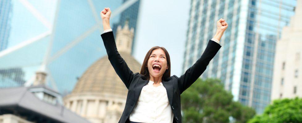woman reaching goals shutterstock_219997855